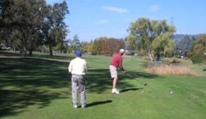golfing at oakmont