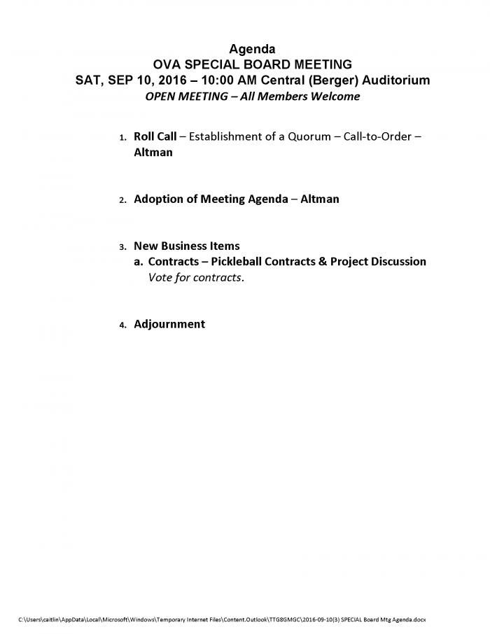 2016-09-103-special-board-mtg-agenda