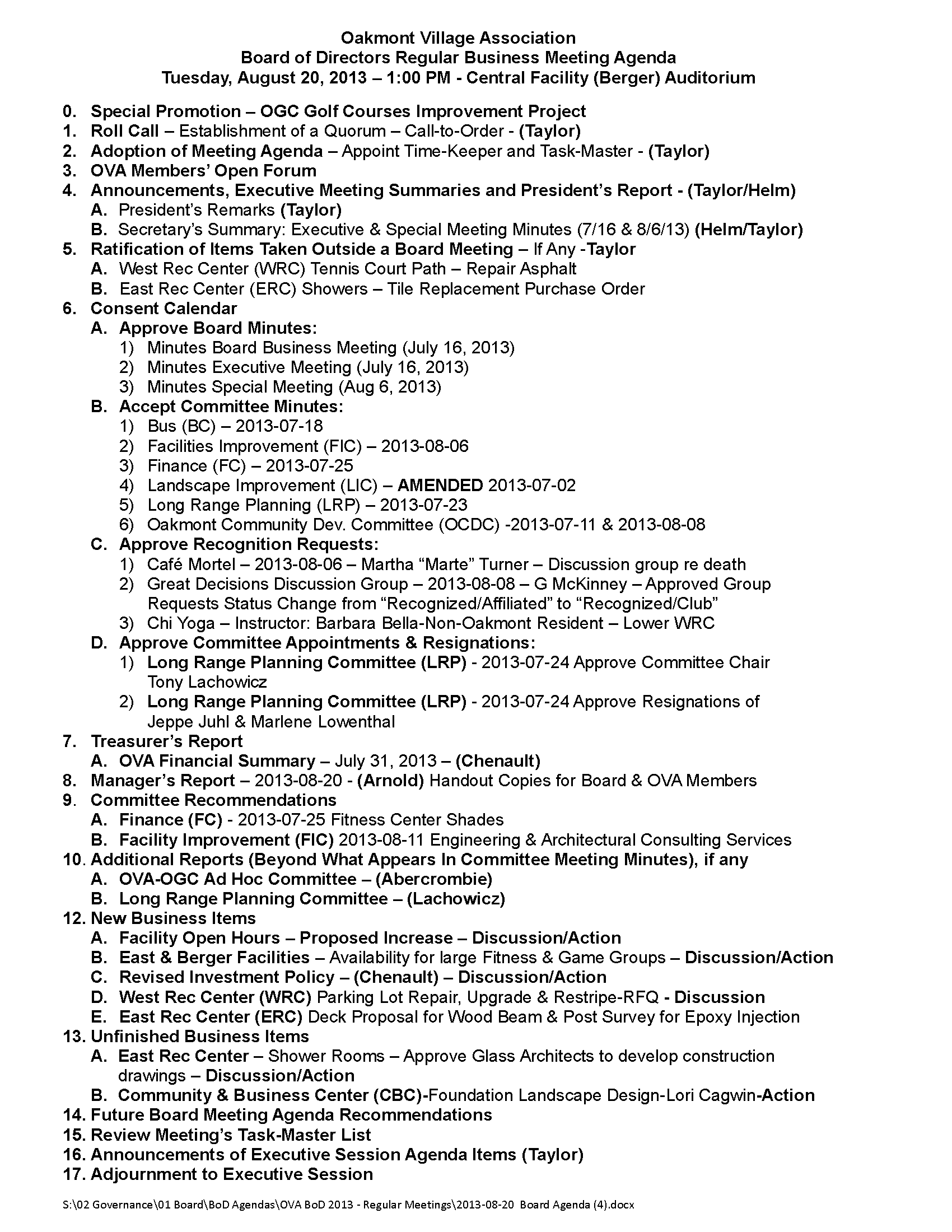 2013-08-20  Board Agenda (4)