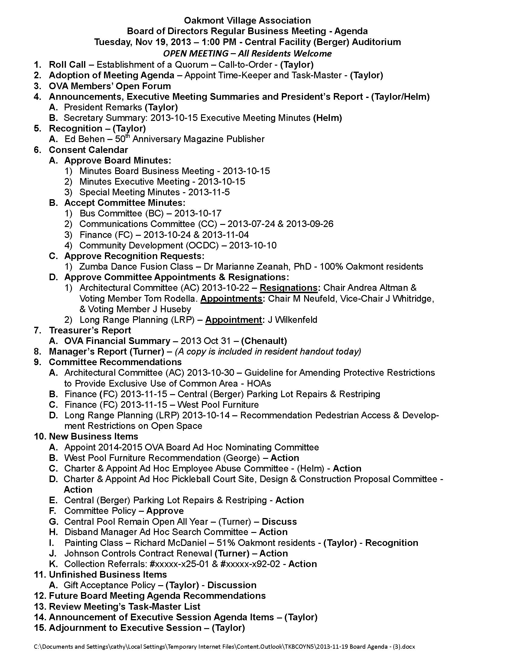 2013-11-19 Board Agenda - (3)