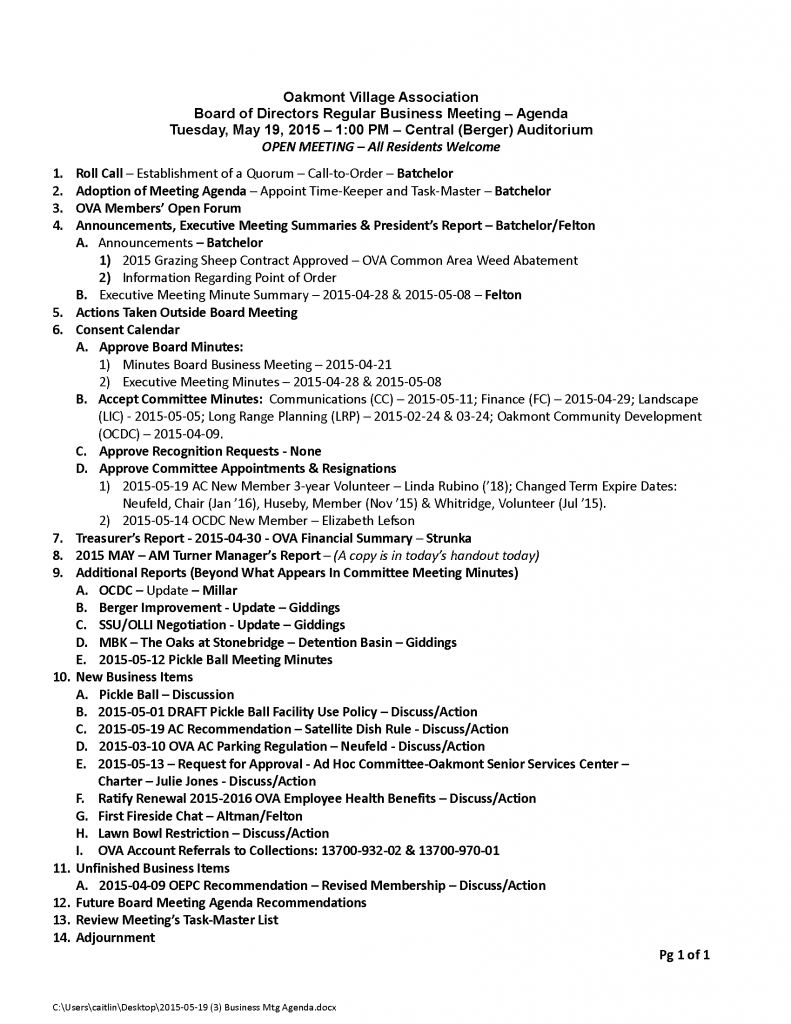 2015-05-19 (3) Business Mtg Agenda