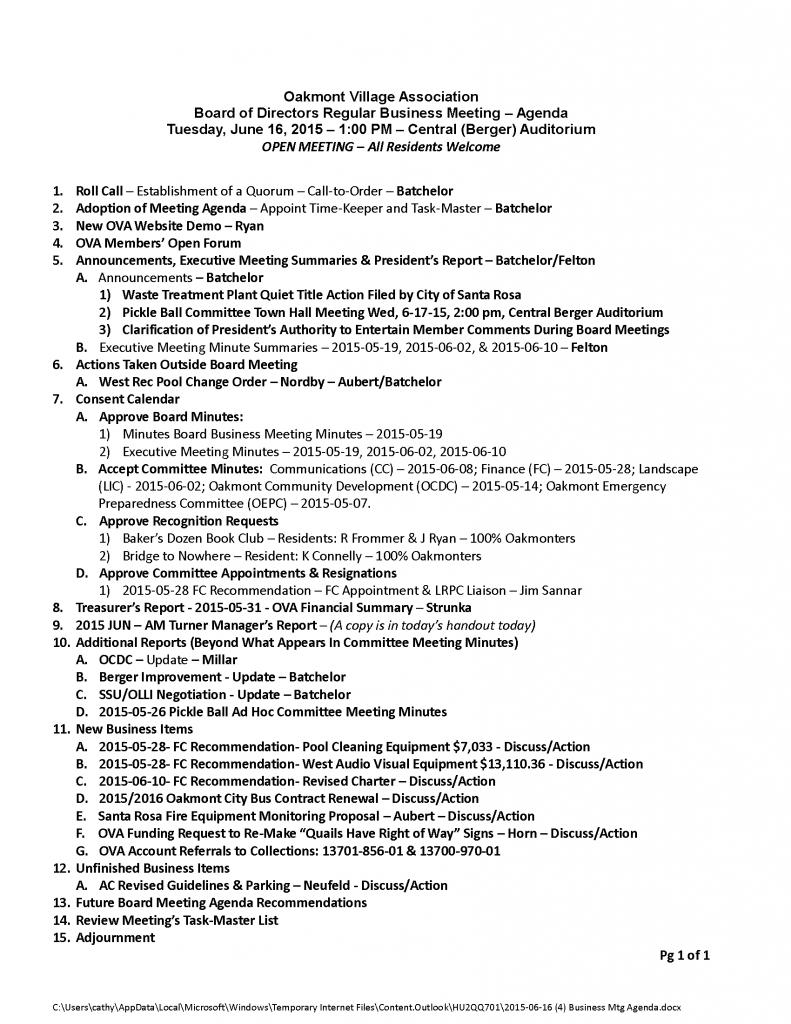 2015-06-16 (4) Business Mtg Agenda