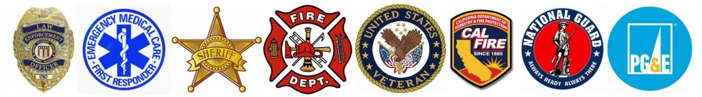 Veteran and First Responder Badges