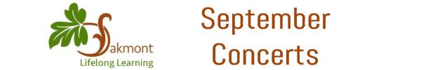 Oakmont Lifelong Learning September Concerts