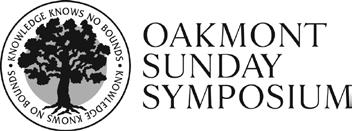 Oakmont Sunday Symposium
