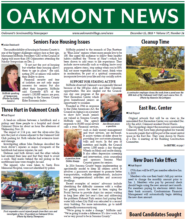 Click Here To Read The Oakmont Newspaper
