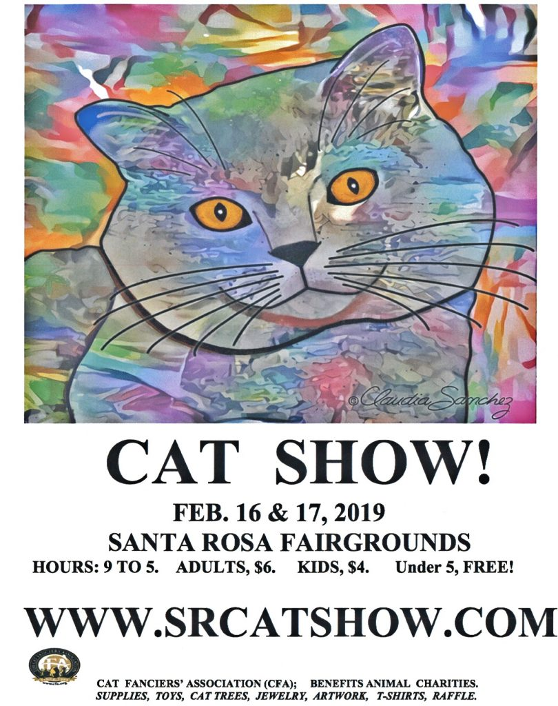 Cat Show February 16 and February 17 from 9 AM to 5 PM.