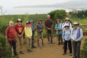 2019-8-1 Hiking Long Hikers at Stinsons Beach Photo by Martin Johns