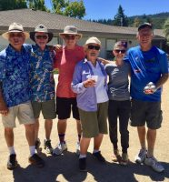 Bastille Day Triples Tournament winners in 2019 were Jim Knapp, Jim Tosio & Don McPherson and runners-up Nancy LaPorte, Linda McPherson & Jean-michel Poulnot. The tourney was canceled in 2020 and is scheduled for July 14, 2021.