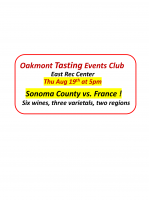 """""""Sonoma vs France"""" – A Tasting Events Club Event"""