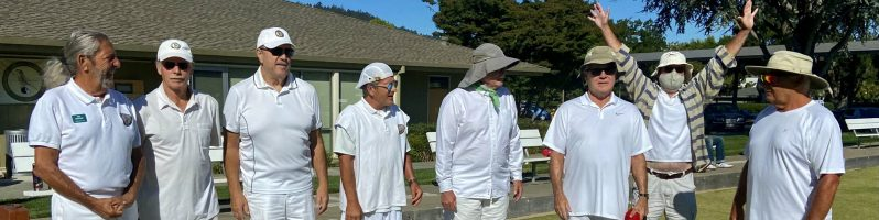 2021 Men Lined up for the Men's Singles Tournament