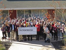 Oakmont Community Foundation OCF giant check with your name on it
