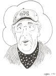 Pickleball Peter Copen caricature of Peter Schmidt