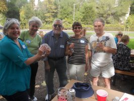 Memory from the last picnic- prize winners Randi, Sue, Larry, Sandy, & Ron