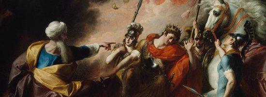 Saul Reproved by Samuel. Painting by John Singleton Copely via Wikimedia Commons (Public Domain)